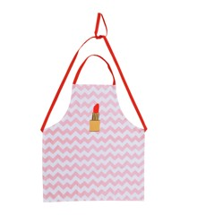 Rice - Cotton Apron w. Zig Zag and Lipstick Print