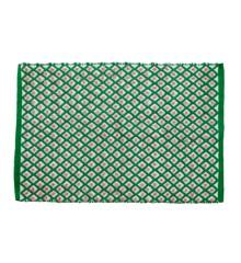 Rice - Håndlavet Genbrugsplast Gulvtæppe  60 x 90 cm. - Grøn