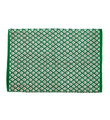 Rice - Handmade Recycled Plastic Floormat 60 x 90 cm - Green Harlequin