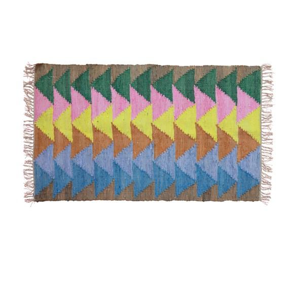 Rice - Håndlavet Bomuld Løber m. 'Let's Summer' farver- 150 x 90 cm