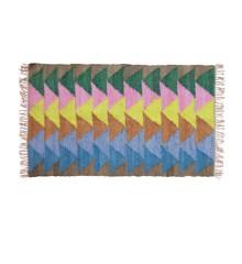 Rice - Handmade Cotton Runner w. 'Let's Summer' Colors - 150 x 90 cm