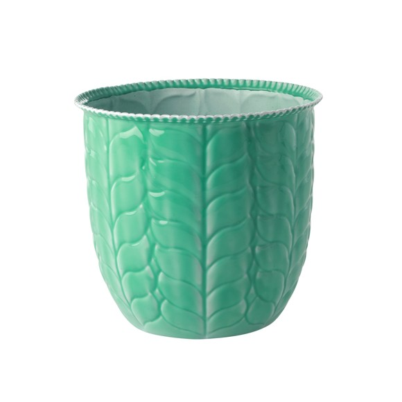 Rice - Metal Flower Pots in Green - Large