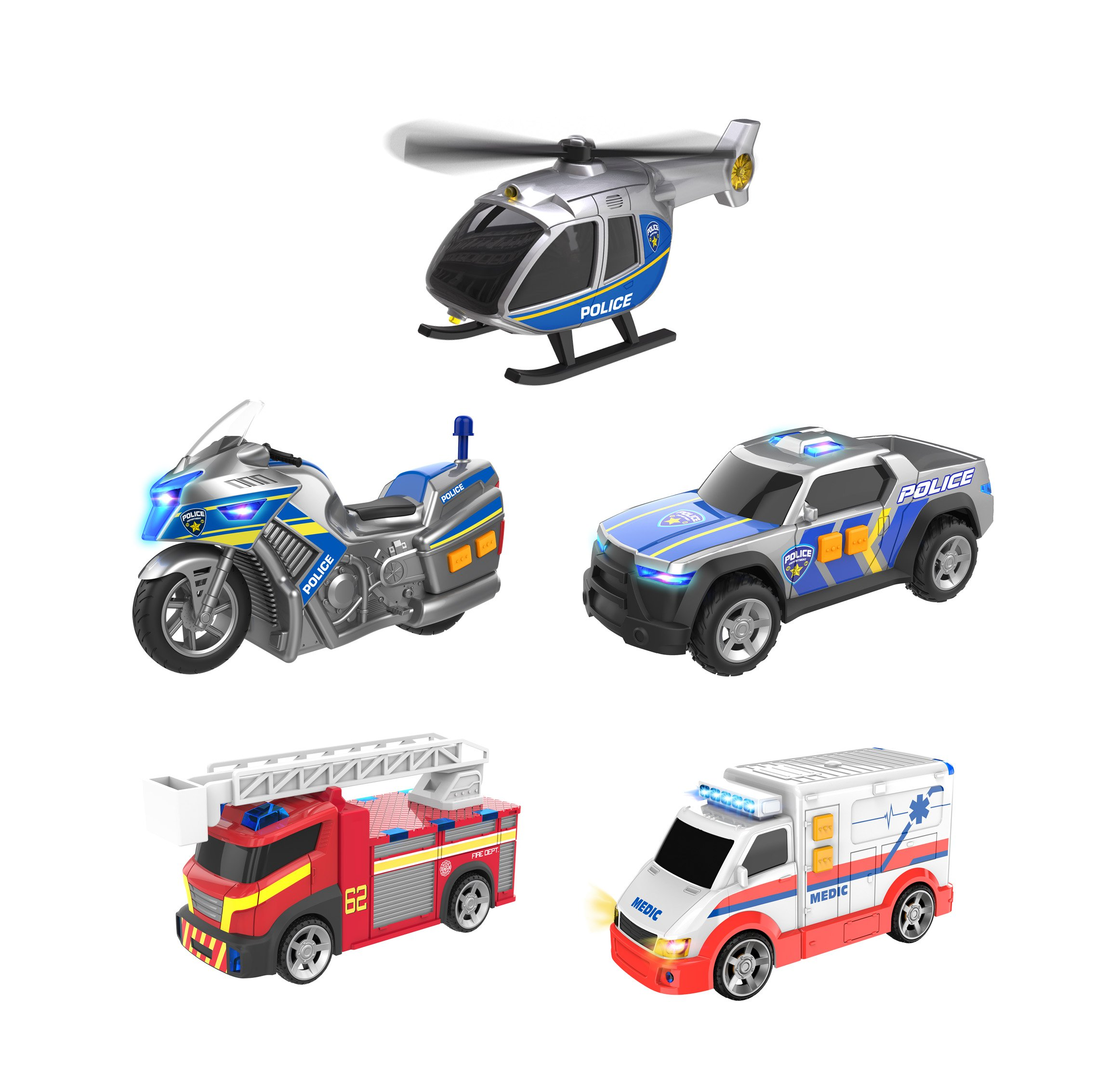 Teamsterz - Light and Sound Emergency Team 5 pack (1417155)