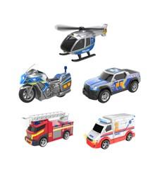 Teamsterz - Udrykningskøretøjer med lys og lyd, 5 stk (1417155)