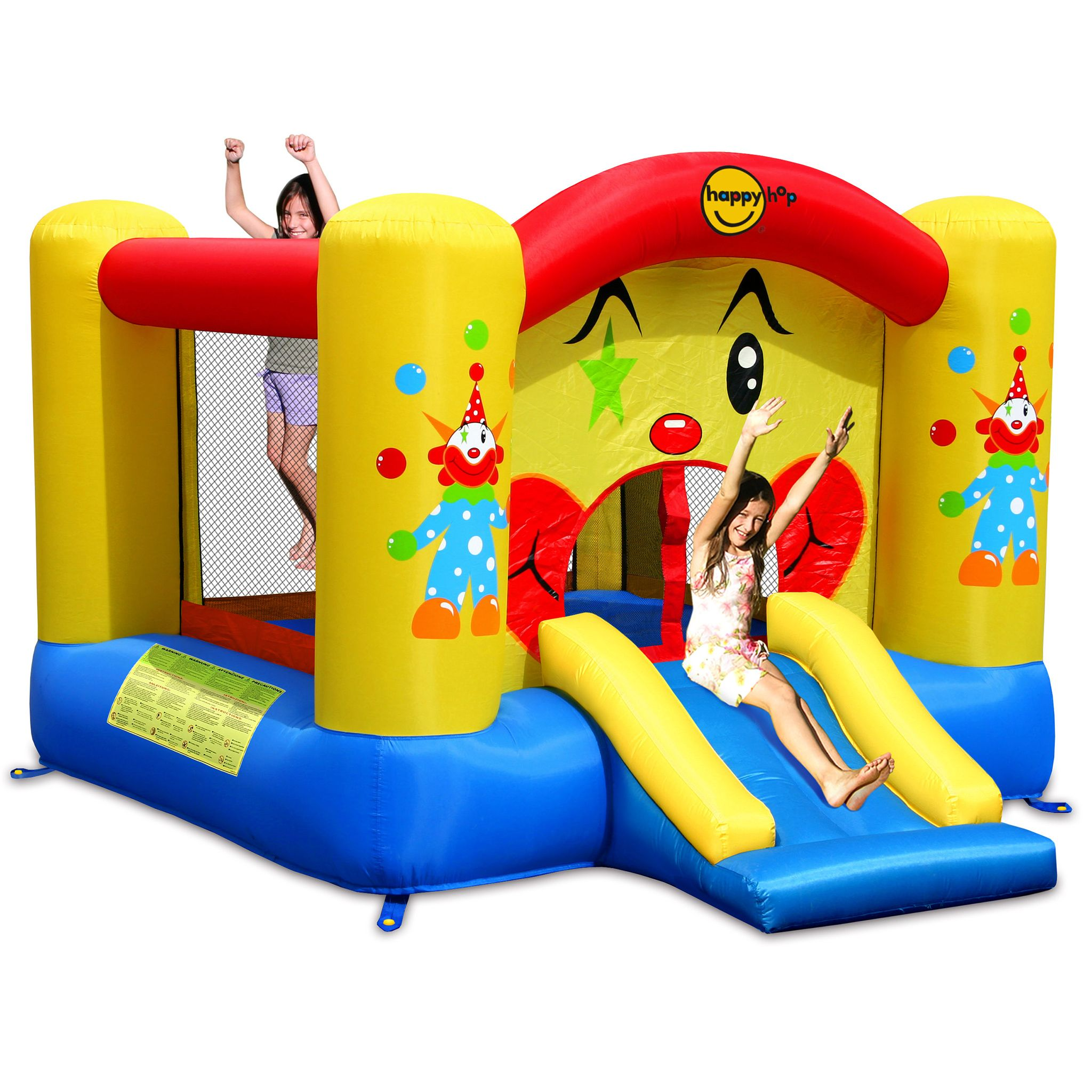 Happy Hop - Clown Slide and Hoop Bouncer (9201)