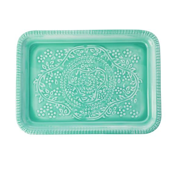 Rice - Metal Tray - Green