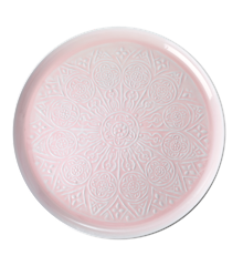 Rice - Metal Round Tray - Pink