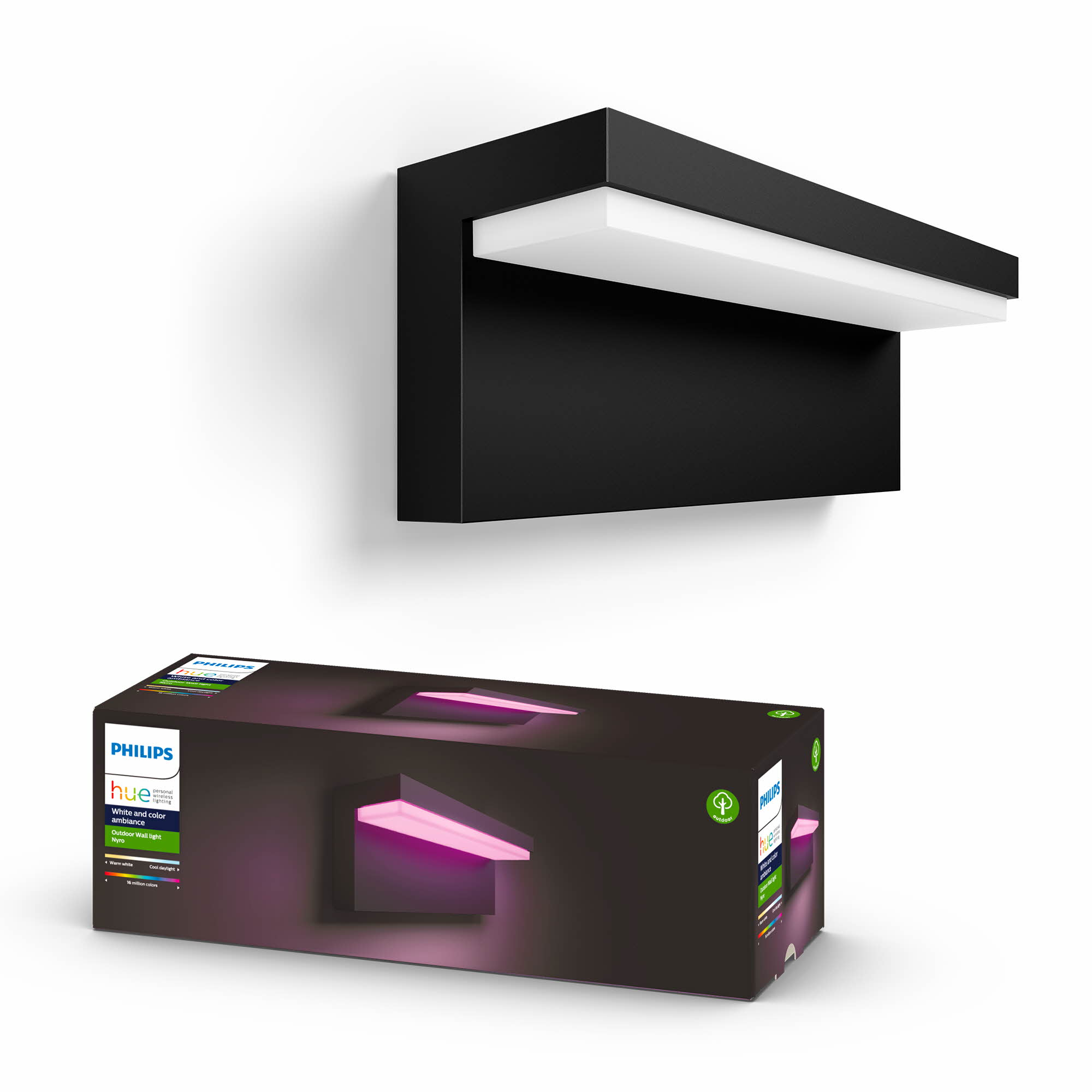 Philips Hue - Nyro Outdoor Wandleuchte - White & Color Ambiance