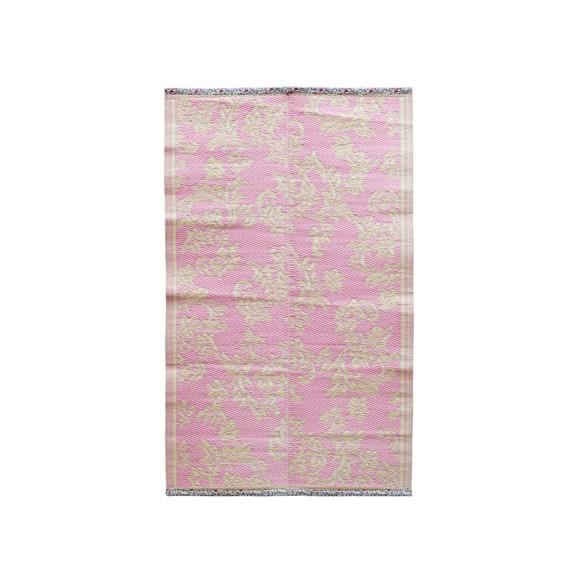 Rice - Plastik Gulvtæppe m. Blomster Rice - Bubblegum Pink & Creme
