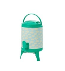 Rice - Plastic Cooler Tank 4 L - Green and Blue w. Cloud Print