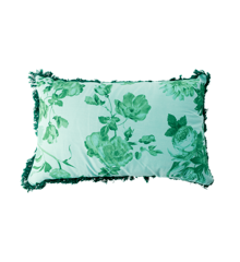 Rice - Bomuld Pude Rektangulær 50 x 30 cm - Grøn Rose Print