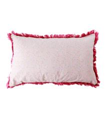 Rice - Bomuld Pude Rektangulær 50 x 30 cm - Små Pink Blomster Print