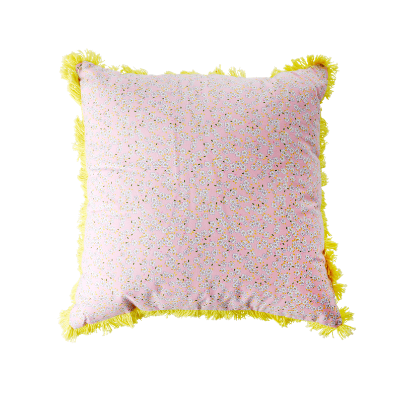 Rice - Cushion 40 x 40 cm -  Pink Small Flower Print