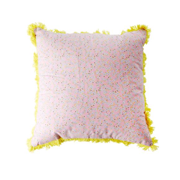 Rice - Cushion 40 x 40 cm -  Pink Small Flower Print