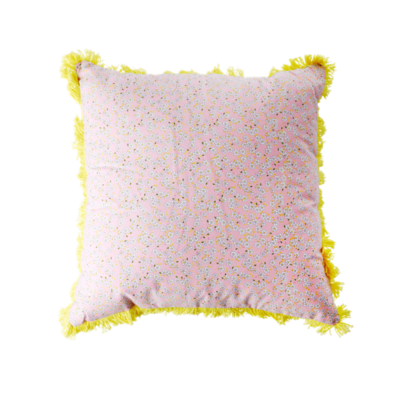 Rice - Pude 40 x 40 cm -  Pink Små Blomster Print