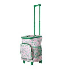 Rice - Trolley Køletaske m. Pink Grøn Rose Print - 22 L