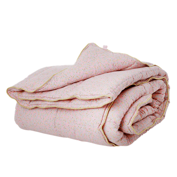 Rice - Bomulds Tæppe - Små Blomster Print