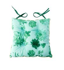 Rice - Chair Cushion - Green Rose Print
