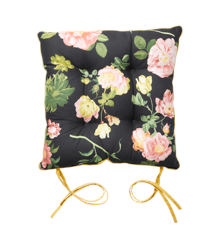 Rice - Chair Cushion - Dark Rose Print