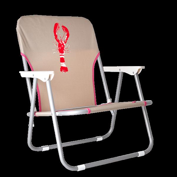 Rice - Beach Chair - Sand - Lobster Print