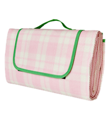 Rice - Picnic Blanket w. Water Resistant Backside - Pink & Creme