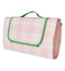 Rice - Picnictæppe m. Vandafvisende Bagside - Pink & Creme