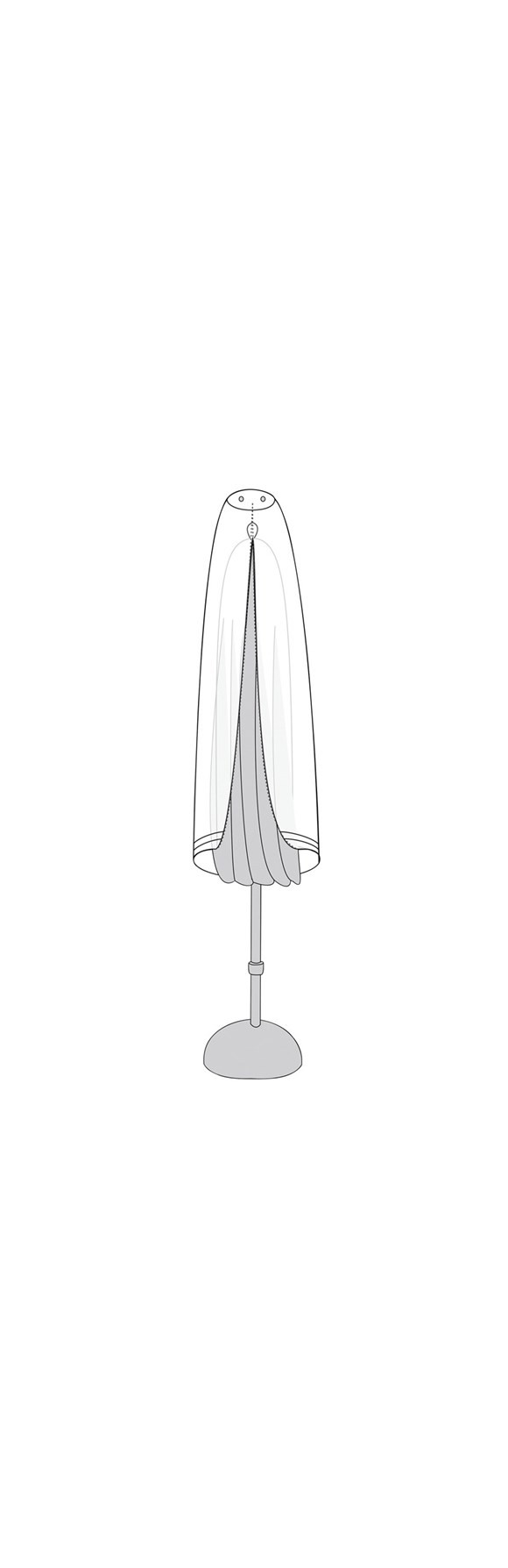 Living Outdoor - Cover For Parasol 145 cm - Grey (47449)