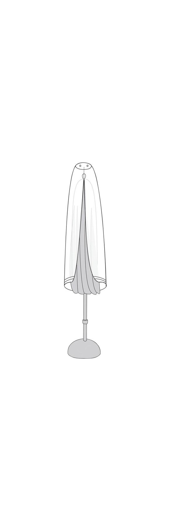 Living Outdoor - Overtræk Til Parasol 145 cm - Grå