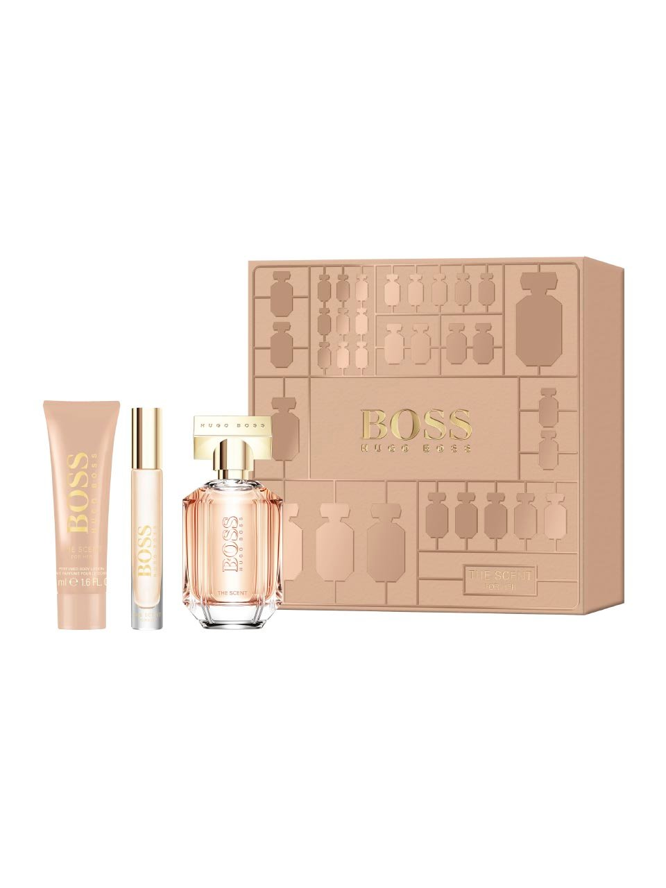 Hugo Boss - The Scent For Her EDP 50 ml + Body Lotion 50 ml + Rollerball EDP 7.4 ml - Giftset