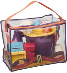B. Toys - Taske med sandlegetøj, Lilla (1308)