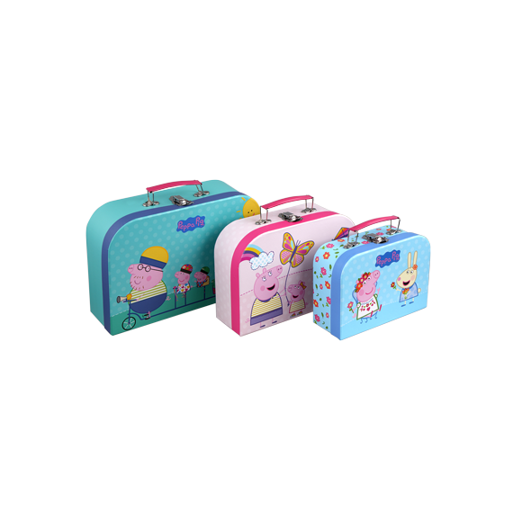 Barbo Toys - Peppa Pig Suitcases - 3 pcs set (8995)