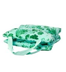 Rice - Cotton Beach Bed - Green Rose Print