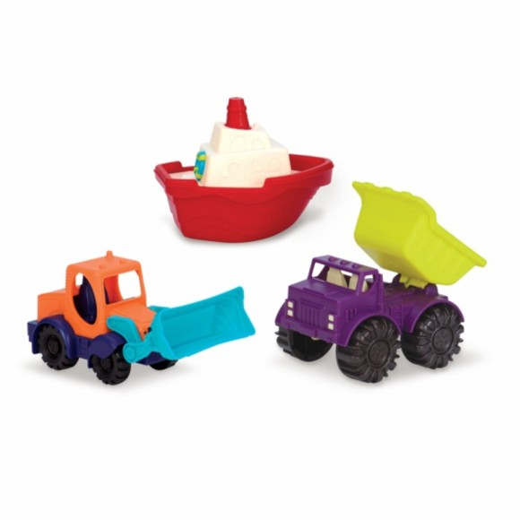 B. Toys - Mini Vehicles Set, 3 Piece (1528)