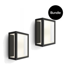 Philips Hue - 2x Impress Large Wall Lantern Outdoor - White & Color Ambiance - Bundle