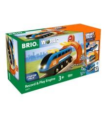 BRIO - Smart Tech Lokomotiv med lydoptager (4-33971)