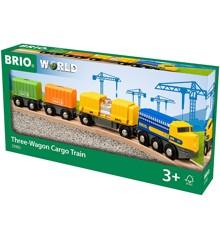 BRIO - Godstog med tre vogne (33982)