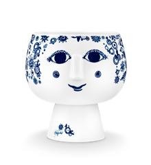 Bjørn Wiinblad - Juliane Flowerot With Base 20,2 cm - Blue (55035)