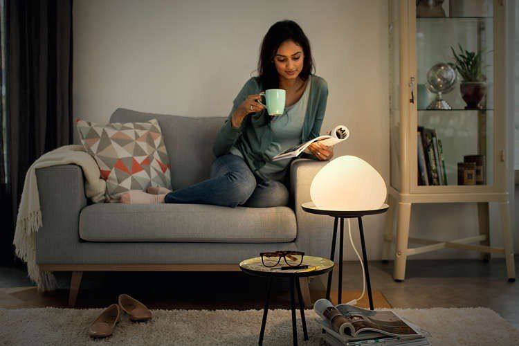 Koop Philips Hue Wellner Table Lamp White White Ambiance Bluetooth Incl Verzendkosten
