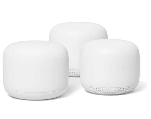 Google - Nest Wifi Router+2pk Point Bundle