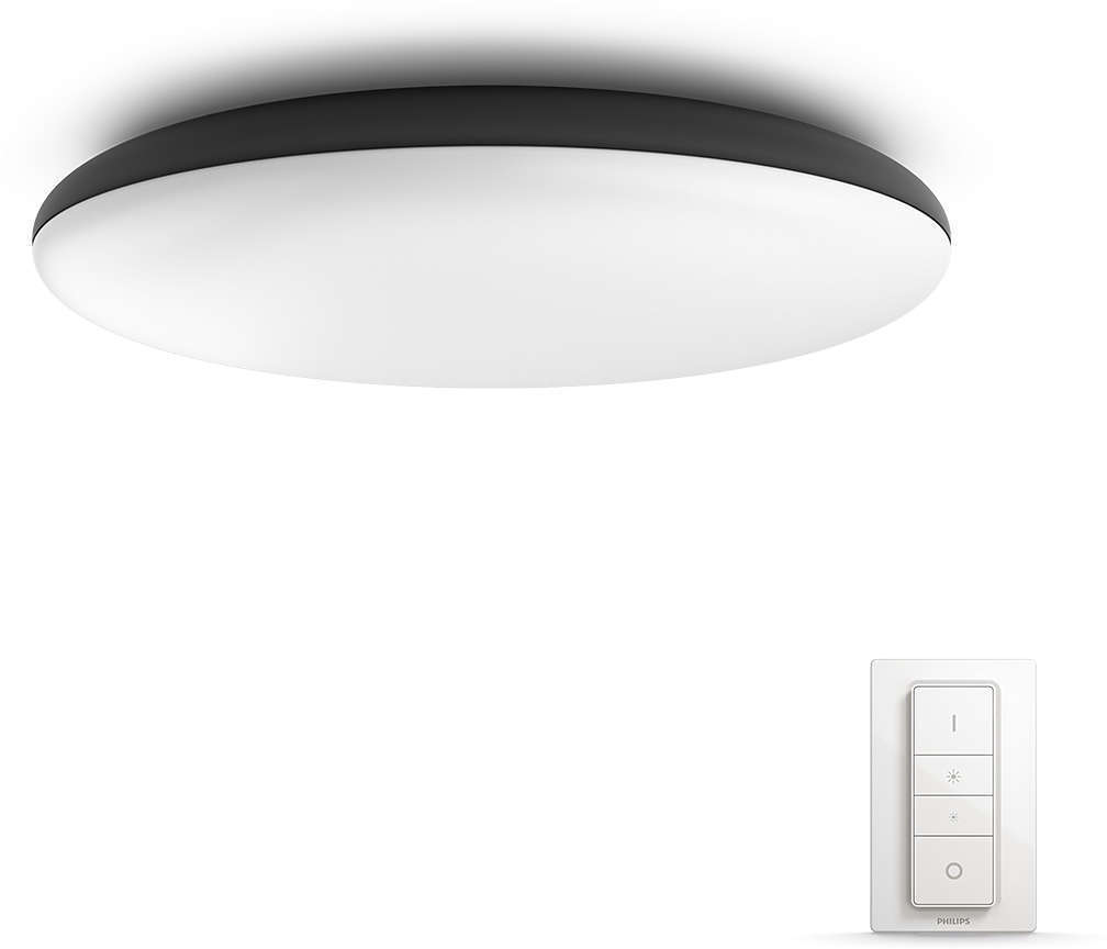 Buy Philips Hue Cher Hue Ceiling Lamp Black White Ambiance Bluetooth Dimmer Included