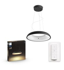 Philips Hue - Amaze Hue pendant black 1x39W 24V - White Ambiance - Bluetooth Dimmer Included