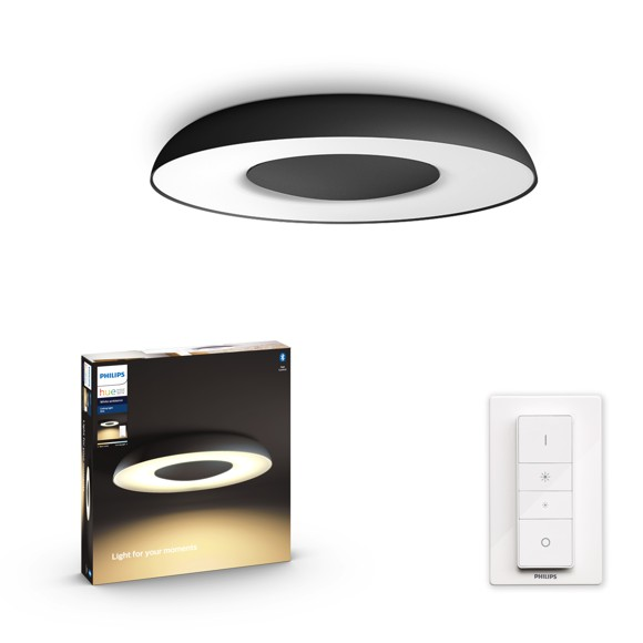 Philips Hue - Still Hue ceiling lamp black 1x32W 24V - White Ambiance