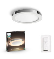 Philips Hue - Adore Hue ceiling lamp chrome 1x40W 24V - White Ambiance Included dimmer switch