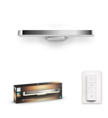 Philips Hue - Adore Hue wall lamp chrome 1x40W 24V - White Ambiance - Bluetooth Included dimmer switch
