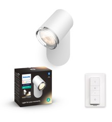 Philips Hue - Adore Hue single spot white 1x5.5W 230V -White Ambiance - Bluetooth Included dimmer switch