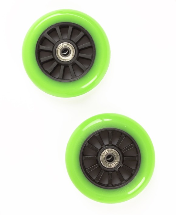 My Hood - 2 Wheels for Trick Scooters 100 mm - Lime/Black (505086)
