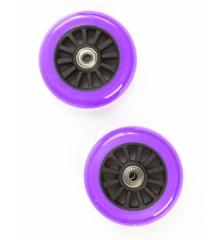 My Hood - 2 Wheels for Trick Scooters 100 mm - Purple/Black (505087)