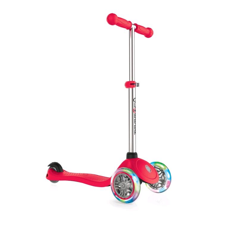 GLOBBER - Scooter - PRIMO LIGHTS V2 - Red (423-102-3)