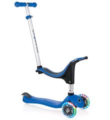 GLOBBER - Evo 4-i-1 Løbehjul med Lys - Blå
