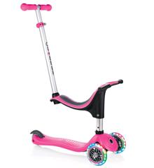 GLOBBER - Evo 4-i-1 Løbehul med Lys - Pink